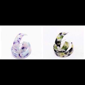 Jewelry - Multicolored hoop earrings.
